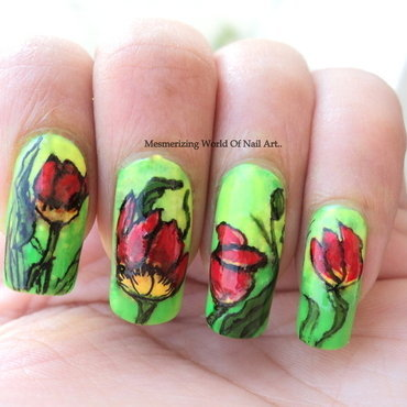 World Parkinson's Day Nail Art nail art by Anubhooti Khanna