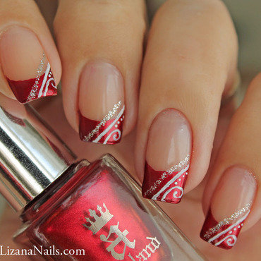 148   nail art red french thumb370f