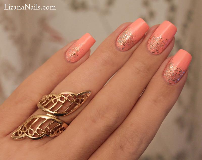 Glitter nail art by Lizana Nails