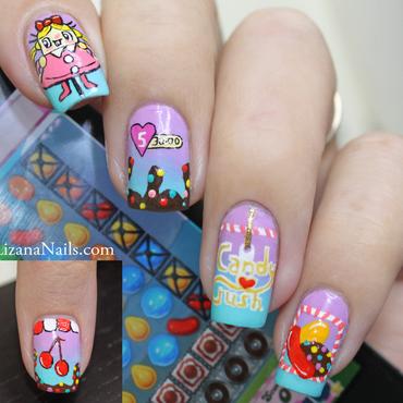 Candy Crush nail art by Lizana Nails