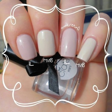 OPI My Vampire is Buff and Essence Iced Latte Swatch by Ann-Kristin