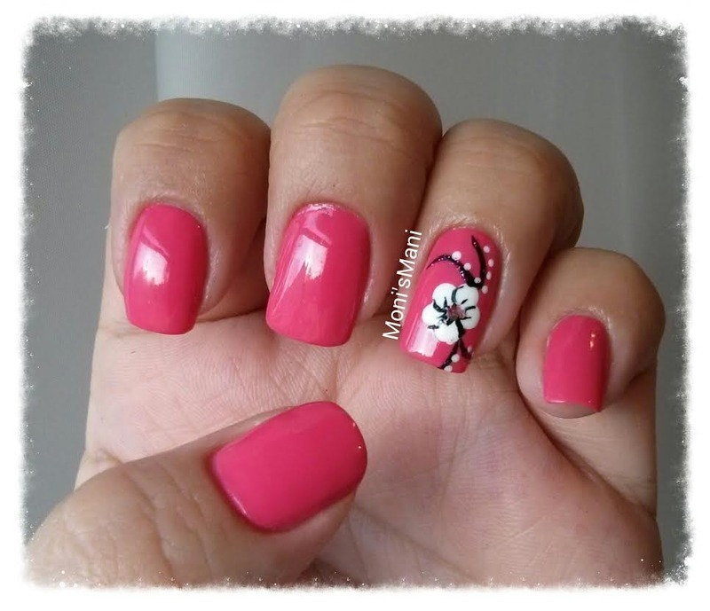 Feeling hot pink and white flower nail art by monismani feeling hot pink and white flower nail art by monismani prinsesfo Image collections
