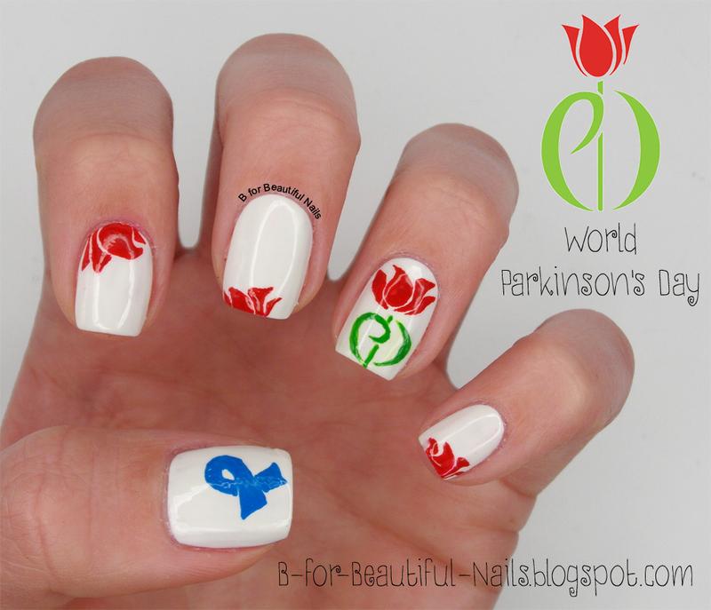 World Parkinson's Day Nail Art nail art by B.