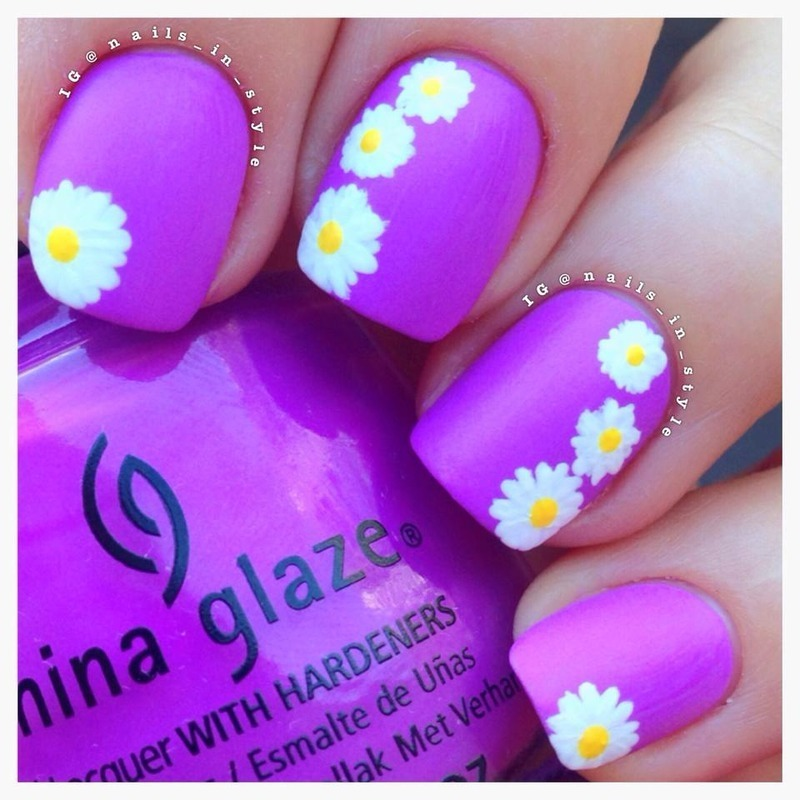 Spring Daisies nail art by Nails_In_Style