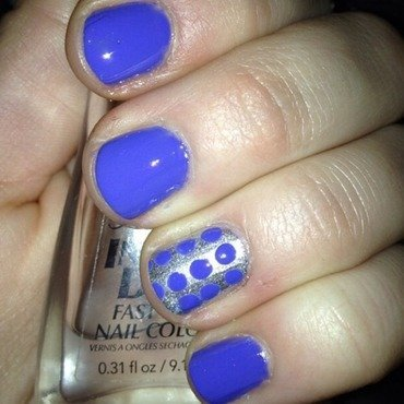 Periwinkle and more dots :) nail art by Kayla