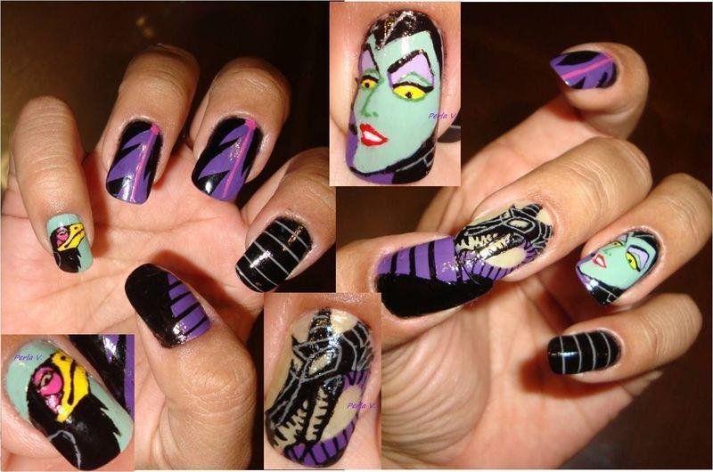 Maleficent Nail Art By Perla Nailpolis Museum Of Nail Art