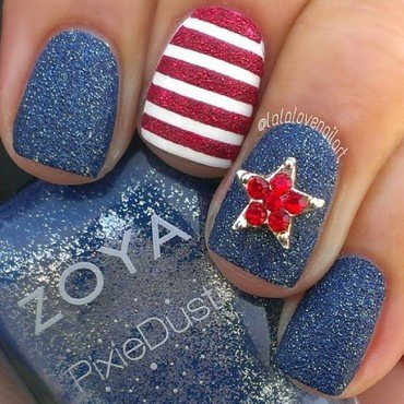 Proud American nail art by Jessica Byles