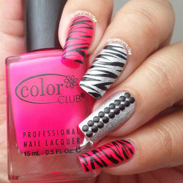 Zebra Prints nail art by Amber Connor