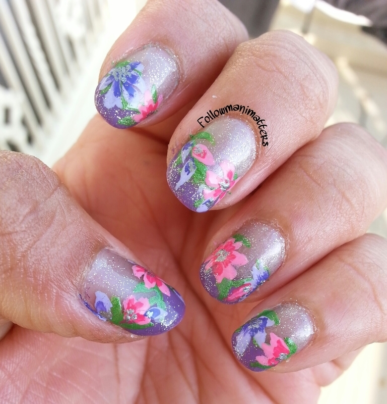 Floral Nails inspired by Robin Moses nail art by Manisha Manimatters ...