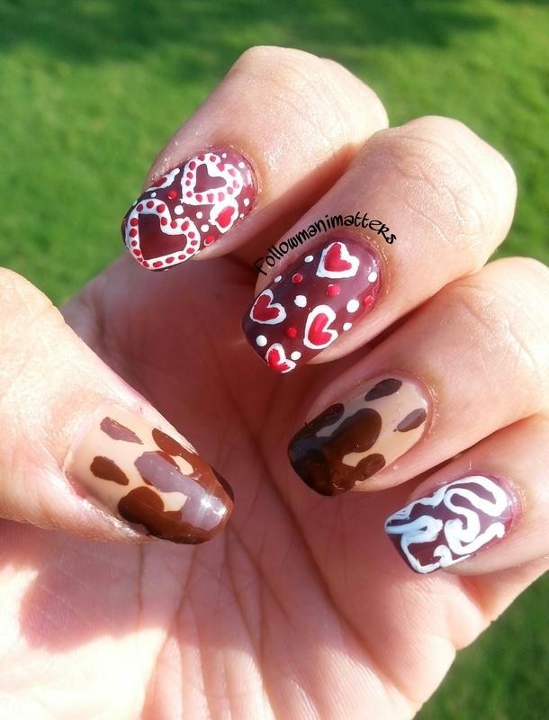 Chocolate Nails nail art by Manisha Manimatters