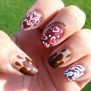 Chocolate Nails nail art by Manisha Manimatters