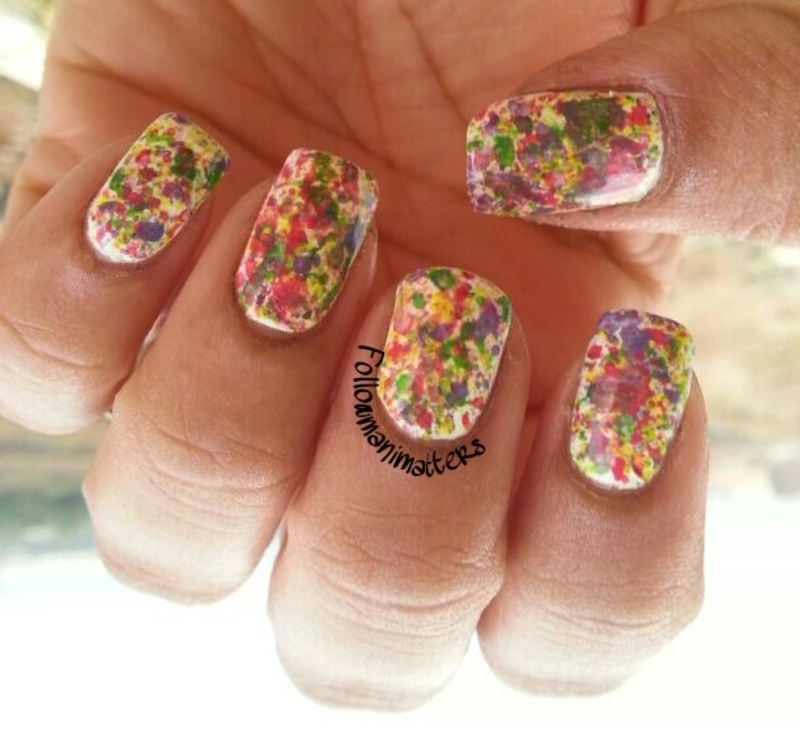 Splatter nails nail art by Manisha Manimatters