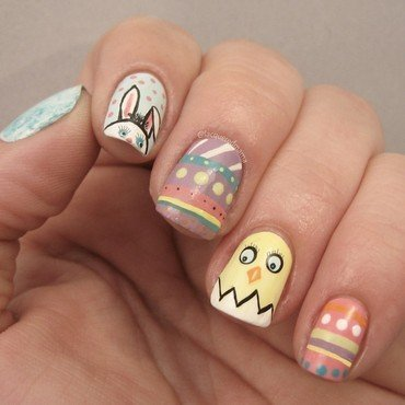 Easter Nails nail art by Jennifer Collins