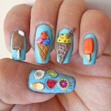 3D ice cream nail art nail art by Uma mathur