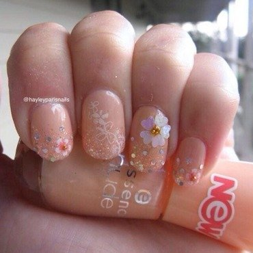Spring blossom nails nail art by Hayley