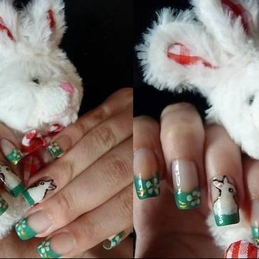Bunny nails nail art by Stegaru  Oana