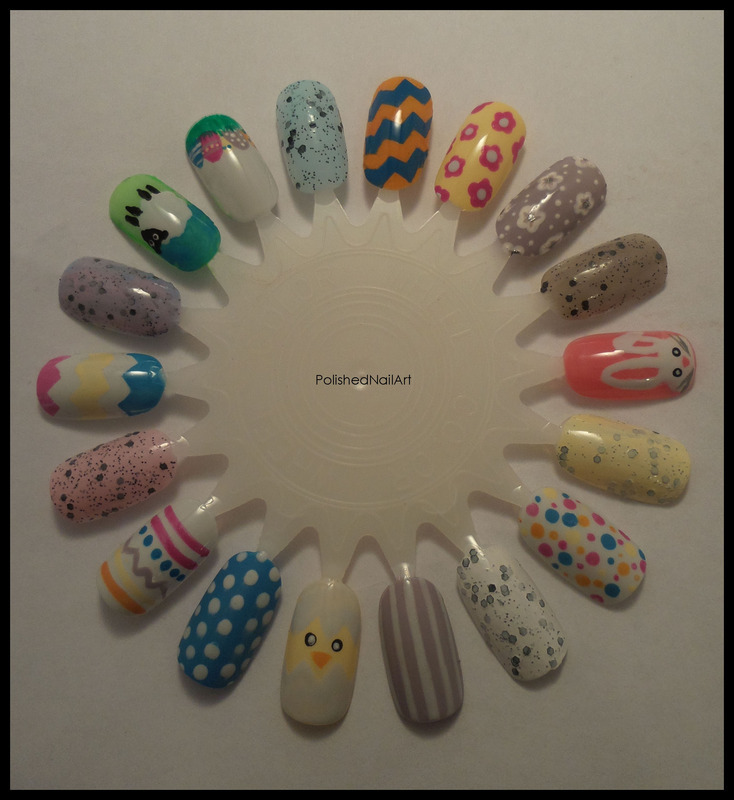 Easter inspiration nail art by Carrie