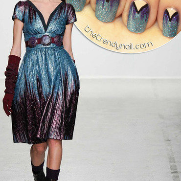 Galliano for F/W 2014 nail art by thetrendynail