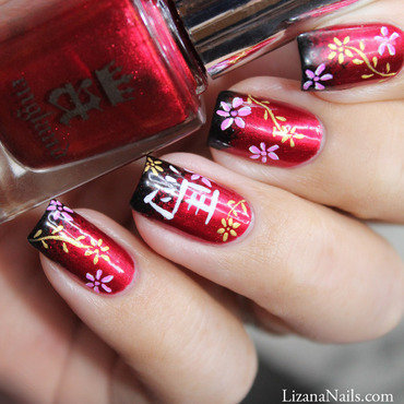 Nouvel an Chinois 2014 nail art by Lizana Nails