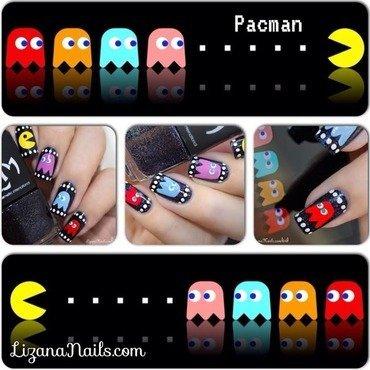 Pacman nail art by Lizana Nails
