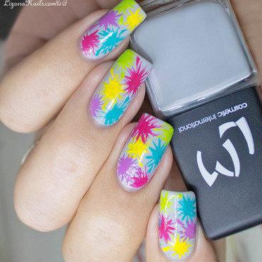 Holi nail art by Lizana Nails