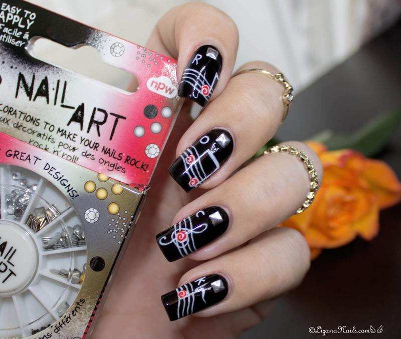 Rock n Roll nail art by Lizana Nails - Nailpolis: Museum of Nail Art