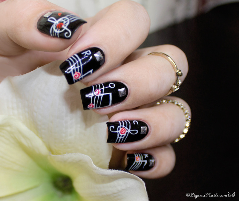 Rock n Roll nail art by Lizana Nails - Nailpolis: Museum of Nail Art