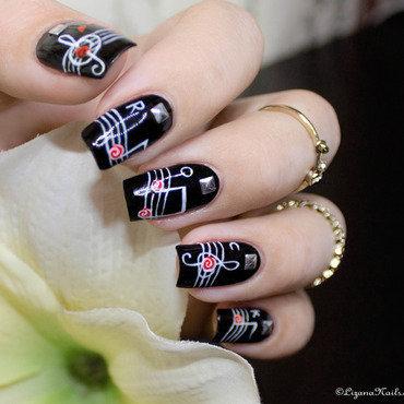 279   nail art   rock n roll   nailstorming thumb370f