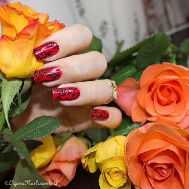283   nail art   red roses thumb370f