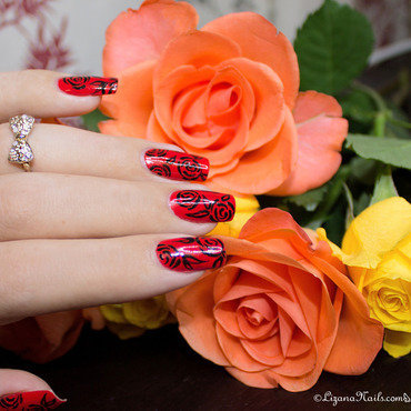 287   nail art   red roses thumb370f
