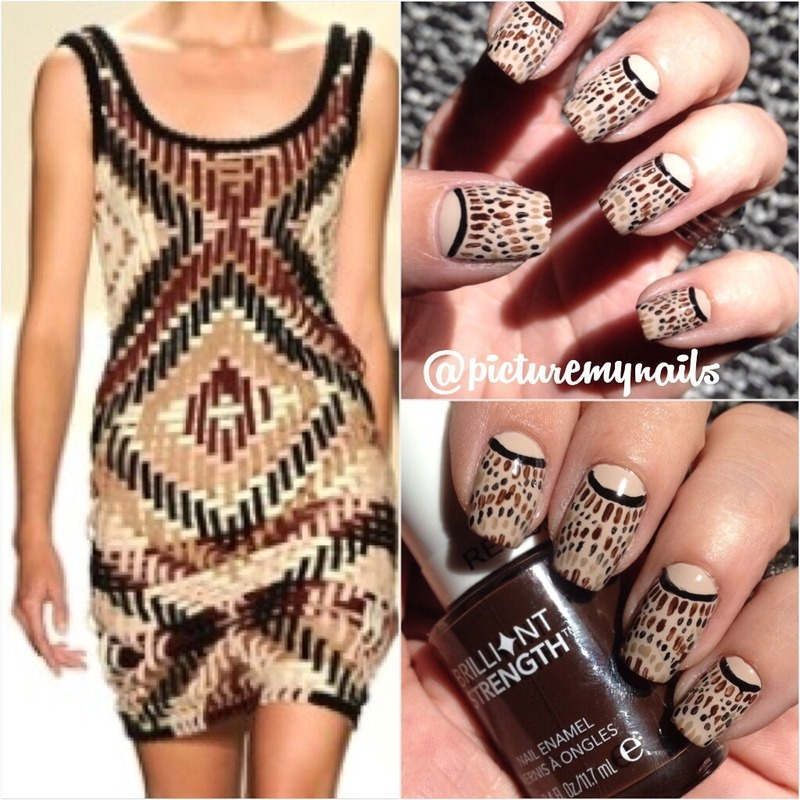 Tribal esk  nail art by Picture My Nails