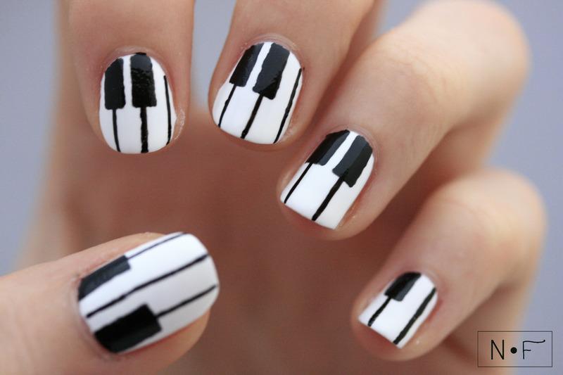 Piano Nail Art And Swatches Nailpolis Museum Of Nail Art