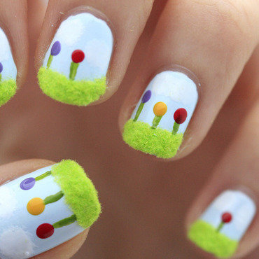Spring weather nail art by NerdyFleurty