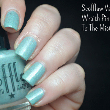 Scofflaw Nail Varnish Wraith Pinned to the Mist Swatch by Bridget Reynolds