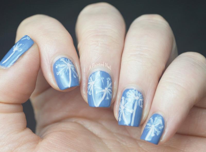 Dandelion Puffs nail art by Bridget Reynolds
