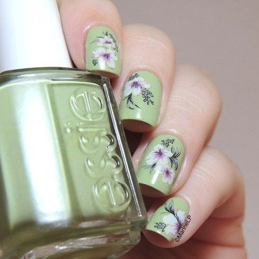 Spring water decals nail art by Marine Loves Polish
