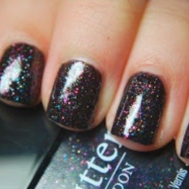 Butter London The Black Knight Swatch by Holly Cunningham