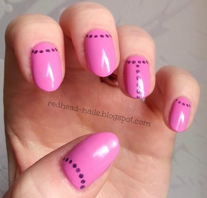 Sweet dotty nail art by Redhead Nails