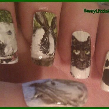 Freshfields animals nail art by Dawn