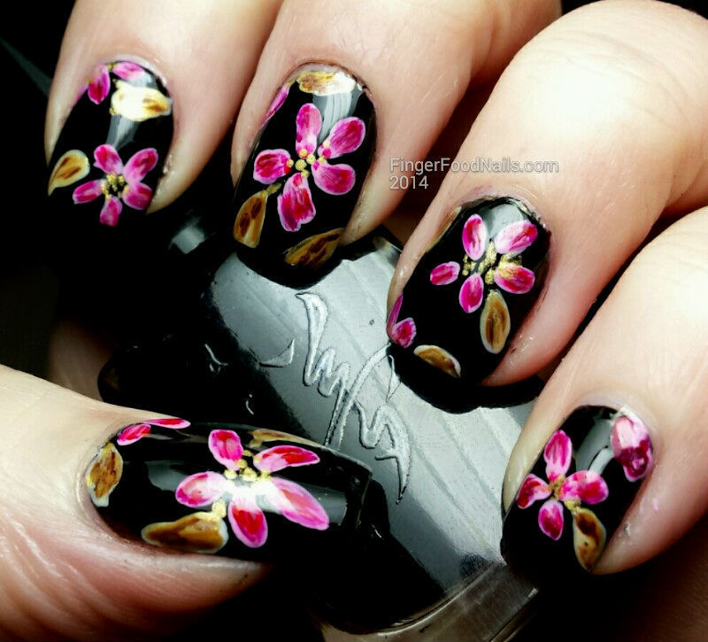 Floral to match a dress nail art by Sam