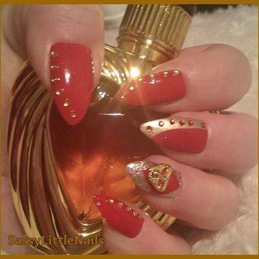 red carpet nails nail art by Dawn