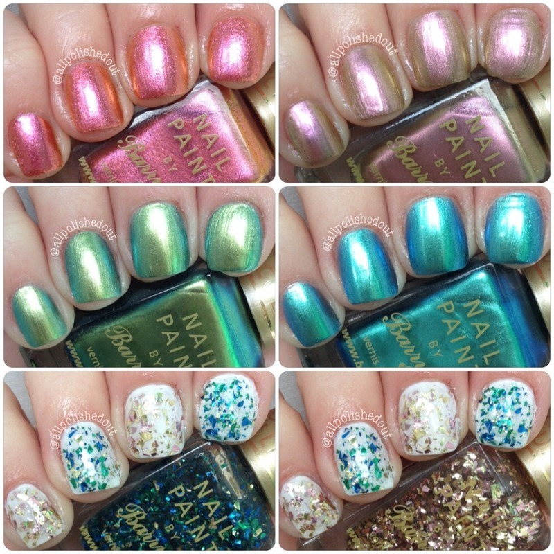 Barry M Caspian, Barry M Treasure Chest, Barry M Arabian, Barry M Pacific, Barry M Mermaid, and Barry M Mediterranean Swatch by allpolishedout