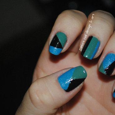 blue-green nail art by Ditta