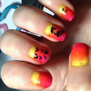 Sunset Gradient nail art by Snowwhitequ33n