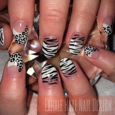 Animal Print Gel Set nail art by Courtney Haines