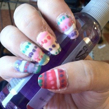 Easter Eggs nail art by trixieann74