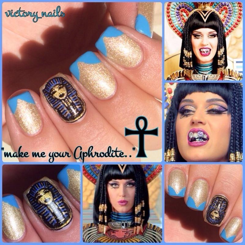 Katy Perry-Dark Horse inspired nail art by Nicole - Nailpolis ...