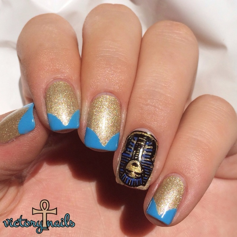 Katy Perry-Dark Horse inspired nail art by Nicole - Egyptian Nail Art And Swatches - Nailpolis: Museum Of Nail Art