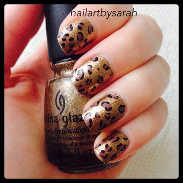 Leo nails nail art by Sarah
