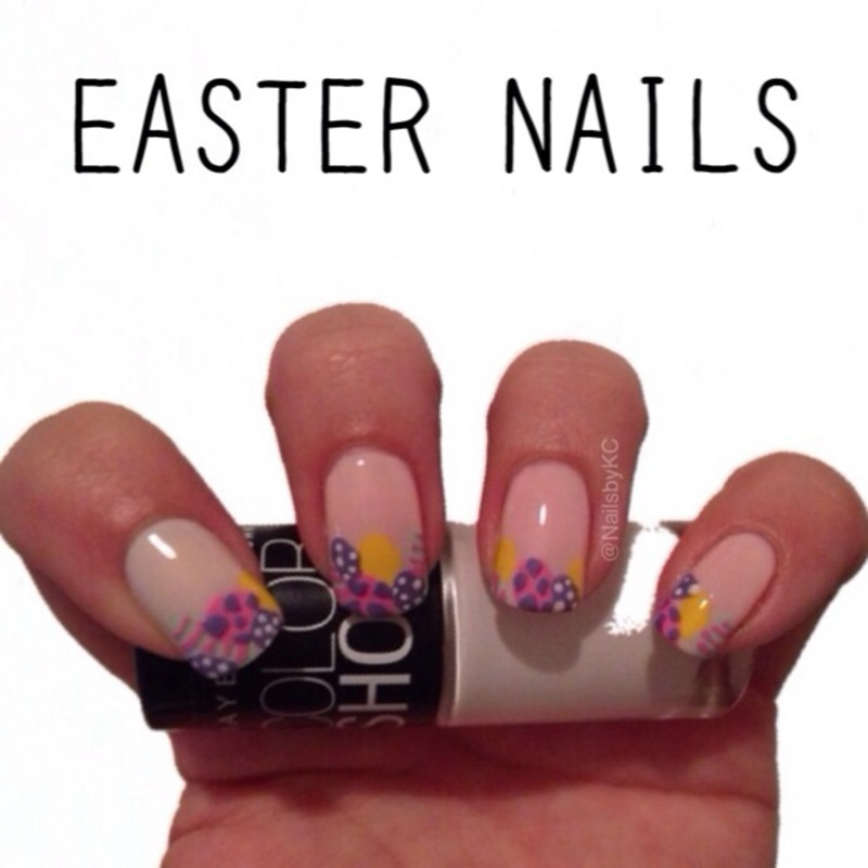 Easter Eggs nail art by Nails by KC